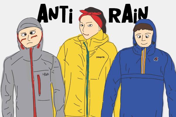 비 올 때 활용하기 좋고, 가지고 다니기 편한 자켓 3