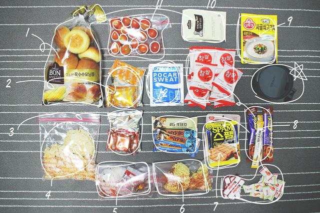 트레일레시피 : 낙동정맥트레일 2박3일 식단