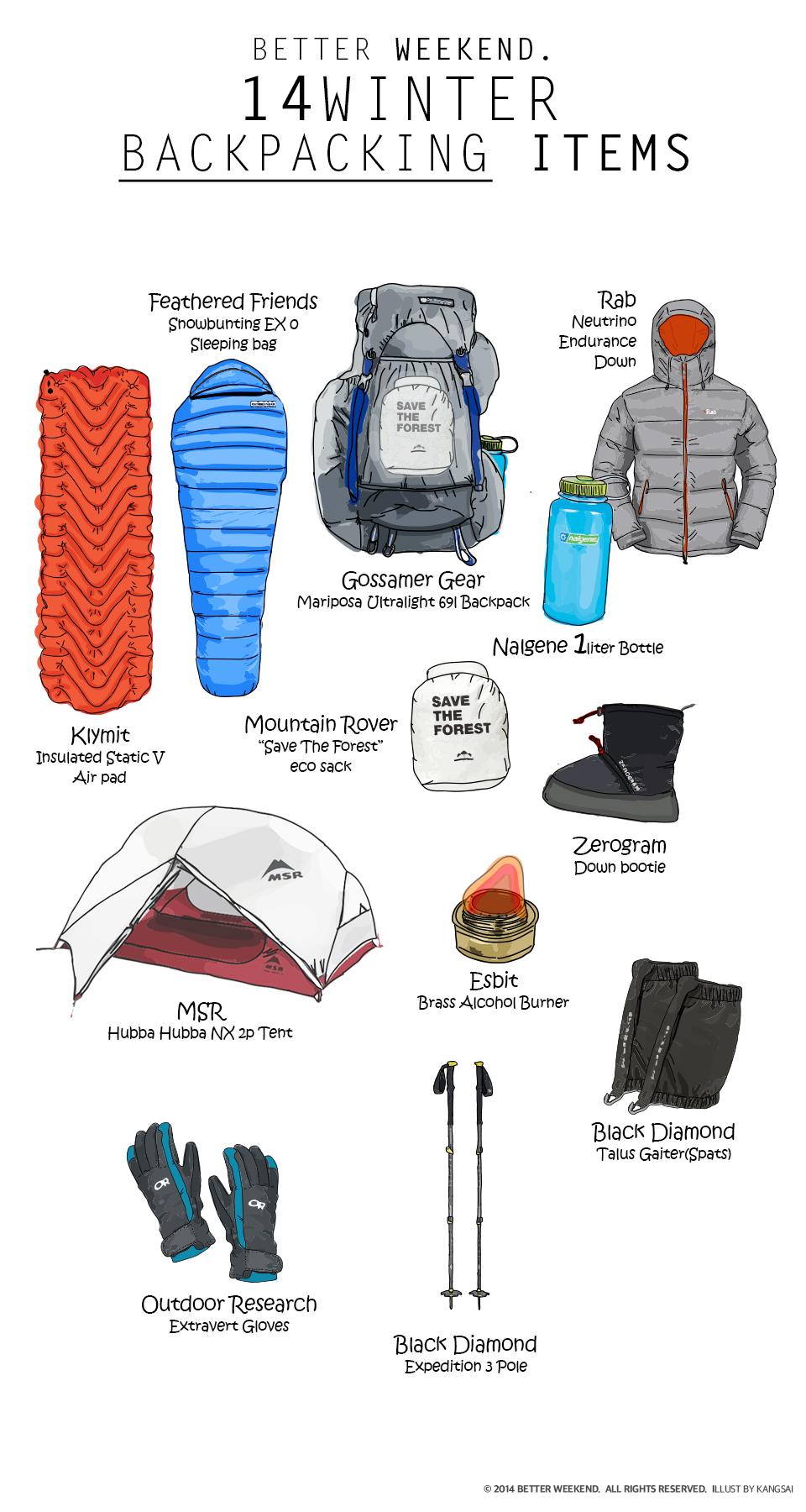 동계백패킹 장비가이드 : 14Winter Backpacking Items